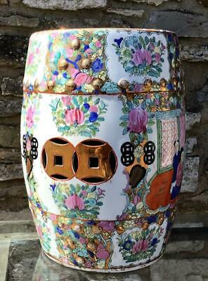 £250 • Buy Large Old PORCELAIN CHINESE GARDEN SEAT Highly Decorated Ceramic Stool