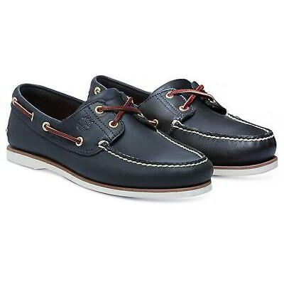 £84.99 • Buy Timberland Mens Classic 2 Eye Navy Lace Up Wide Fit Boat Deck Shoes Size UK 7-11