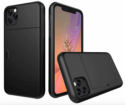 AU9.99 • Buy Apple IPhone 11/Pro/Pro Max Wallet Card Holder Shockproof Cover Case