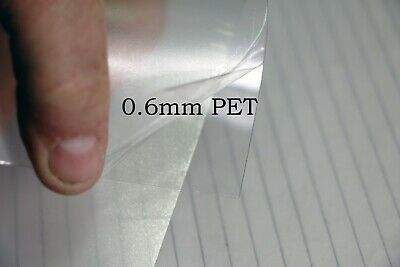 £3.97 • Buy 0.6mm A4+ Crystal Clear PET Plastic Sheet Art Craft Modelling Dolls House PPE