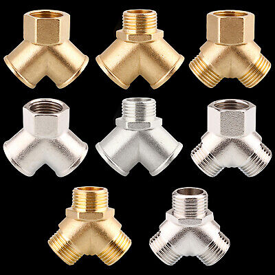 Brass/Copper Nickel Plating T Connector Y Piece / 3 Way Connector  • 5.66£