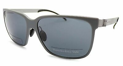 MERCEDES BENZ STYLE Sunglasses Matte Grey - Gunmetal / Dark Grey Lenses M7004 D • 44.99£