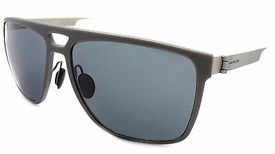 MERCEDES BENZ STYLE Sunglasses Matte Grey - Silver / Dark Grey Lenses M7008 B • 44.99£