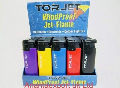 £2.99 • Buy 3 X WINDPROOF JET TURBO FLAME LIGHTER GAS REFILLABLE Free Delivery Uk Seller Bes