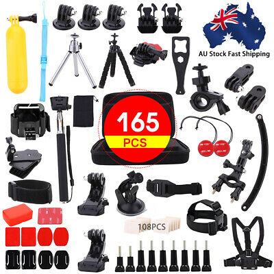 AU25.79 • Buy 165pc For Gopro Accessories 6 5 4 3 2 HD Action Camera Sport Kit Pack Bundle