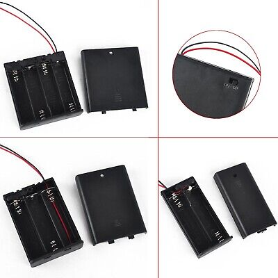 AU4.39 • Buy AA Power Battery Storage Box Case Holder ON/OFF Switch W/Wire Leads 2/3/4 Slot