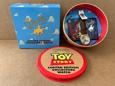 $39.95 • Buy Disney Pixar 1996 Toy Story Woody Fossil Limited Edition Wrist Watch In Tin