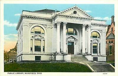 $4.99 • Buy OH, Mansfield, Ohio, Public Library, Entrance Steps, Curt Teich No 43459