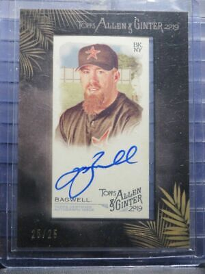 $23.50 • Buy 2019 Allen & Ginter Jeff Bagwell Black Framed Auto Autograph #25/25 Astros AG