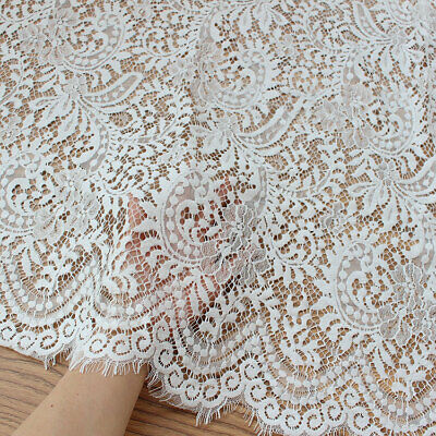 £29.99 • Buy Chantilly Lace Fabric Eyelash Lace Tulle For Short,Lingerie 59 Inches Width