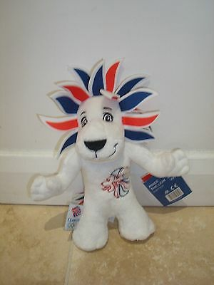 Official London 2012 Olympic Games Team GB Mascot Soft Toy Plush 8  Pride Lion • 4.50£