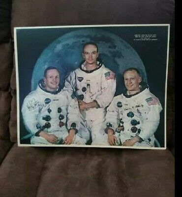 $31 • Buy Neil Armstrong, Buzz Aldrin, & Micheal Collins Autographed 20x16 NASA PHOTO!