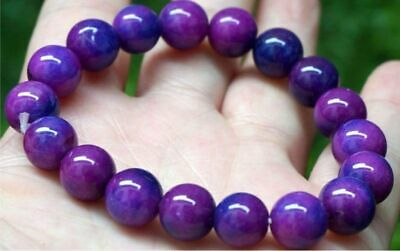 $1.50 • Buy 10mm Natural Purple Sugilite South Africa Beads Bracelet 7.5'' AAA