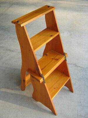 $99.99 • Buy Ben Franklin Library Chair / Steps - Folding Wood Furniture - Excellent