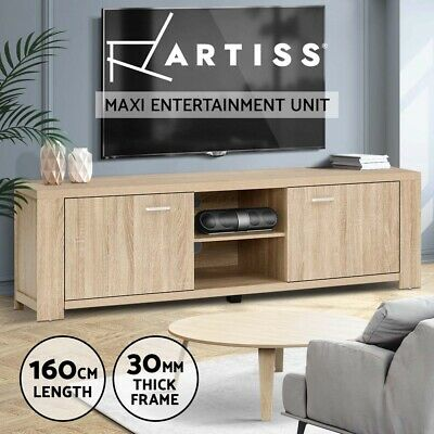 AU149.95 • Buy Artiss TV Cabinet Entertainment Unit Stand Wooden Shelf Storage Furniture Thick
