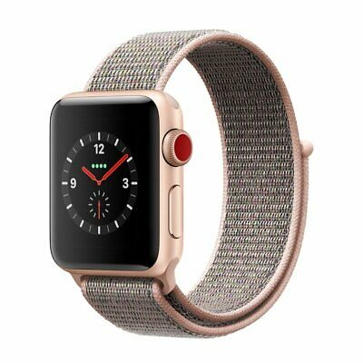 $ CDN280.48 • Buy Apple Watch Series 3 38MM Aluminum Case Smart Watch With Loop - Gold/Pink