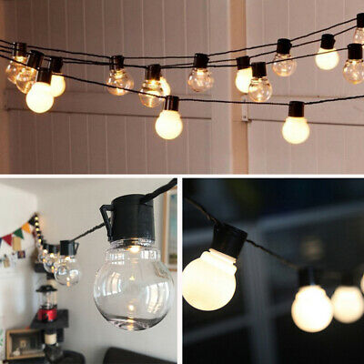 ⭐20LED Mains Powered Retro Bulb String Lights Garden Outdoor Hanging Fairy Lamp • 14.99£