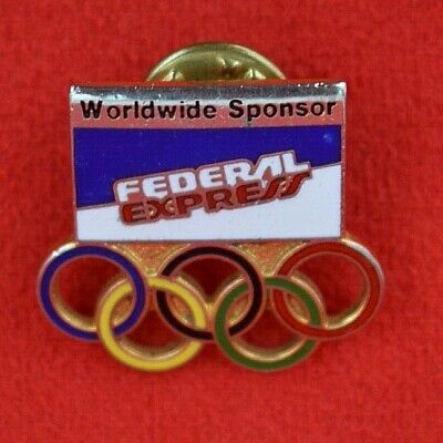 £4.99 • Buy 1988:   Federal Express / Olympic Sponsors Lapel Badge - Super Condition!