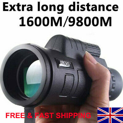 Super High Power 40X60 Portable HD Night Vision Monocular Telescope Binoculars • 11.98£