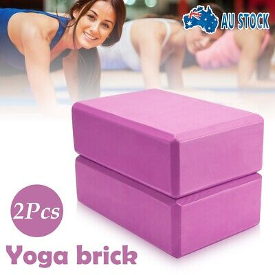 AU14.50 • Buy 2Pcs VIVA Yoga Block Brick Foaming Home Exercise Practice Fitness Gym Sport Tool
