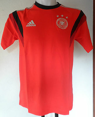 Germany S/s Red Training Tee Shirt By Adidas Size Men's Medium Brand New  • 19.99£