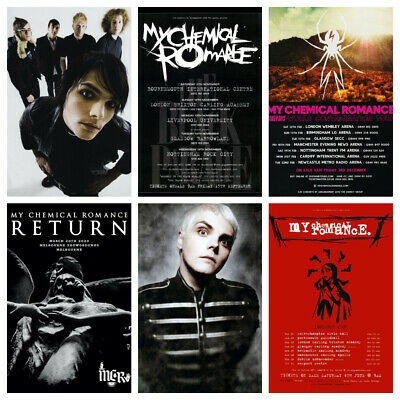 My Chemical Romance The Return 2020 Tour Print/poster Music Black Parade Gerard • 8.50£