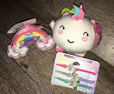 AU37.04 • Buy Claire's Miss Glitter Squishy Plush Unicorn Kitty Ring Box Bracelet Jewelry Lot