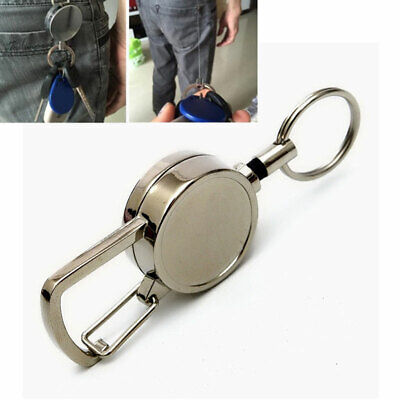 Telescopic Wire Rope Anti Lost Keychain Retractable Key Ring Finder Gadget Metal • 3.03£
