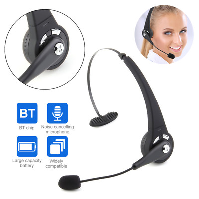 £17.39 • Buy Wireless Bluetooth Call Center Telephone Headset Office Phone Headphone With Mic