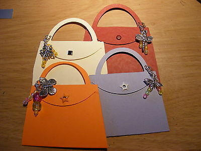 £2 • Buy Handbag Bag Die Cuts Bug Theme Beads With Butterflies Dragonfly & Bee Charms