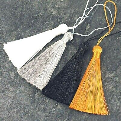 Silky Key Tassels, Cushions, Blinds, Curtains ,Old Gold, White, Black, Grey NT1 • 2.95£