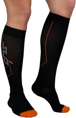 Sub Sports Elite RX Recovery Compression Socks Black Reduces Fatigue Cramps • 10.99£