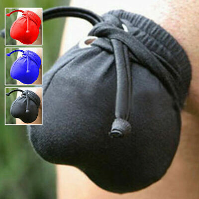 MENS PENIS & BALL BAG Willy Warmer Posing Pouch Testicle Scrotum Tie String Sexy • 6.99£