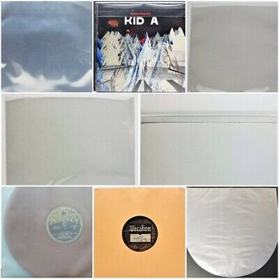$10.78 • Buy 10  78rpm Vinyl Record Outer Sleeves & Supplies Paper Plastic 5 10 25 50 75 100