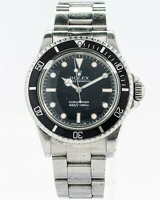 $ CDN13570.21 • Buy Original Vintage 1980's Rolex 5513 Submariner W/ Glossy Tritium Dial/Hands!