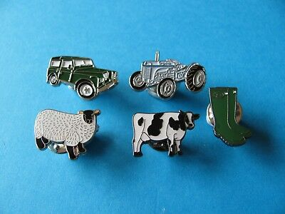 5, Farming Pin Badges, VGC, Tractor Farming Interest. • 9.99£