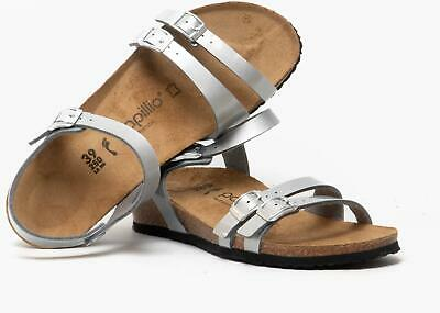 Papillio By Birkenstock LANA 1013062 (Nar) Ladies Womens Strappy Sandals Silver • 53.21£
