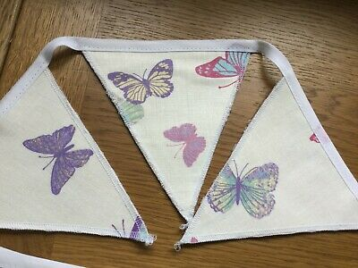 Laura Ashley Summer Meadow Butterfly Children's Nursery Handmade Bunting  • 19.95£