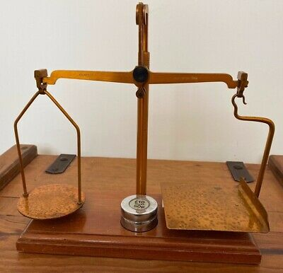 Rare Vintage De Grave Short & Co Ltd Gpo Post Office Scales Complete With Weight • 49.99£