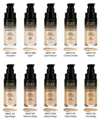 🔥MILANI  CONCEAL + PERFECT🔥  2 In 1 FOUNDATION AND CONCEALER🔥 NEW UK STOCK🔥 • 14.29£
