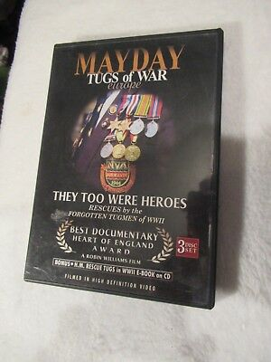 Dvd - Mayday Tugs Of War Europe - 3 Discs - Tugmen Of Wwii (a) • 5.99£