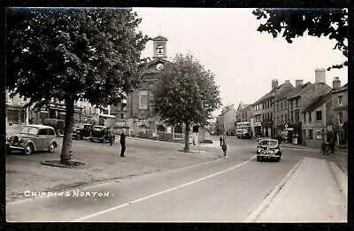 £9.99 • Buy 1940,s CHIPPING NORTON STREET SCENE BUS CARS REAL PHOTO POSTCARD OXFORDSHIRE