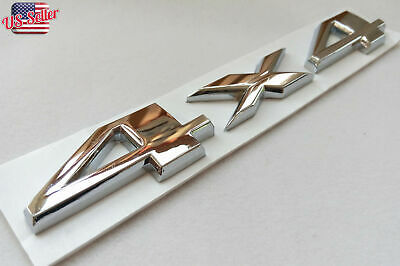 $10.99 • Buy Silver Chrome 4X4 Auto Car Logo Decal Emblem Sticker For JEEP Dodge Ford Truck