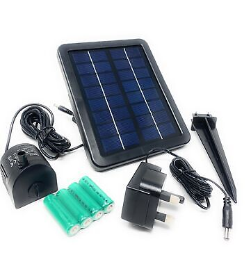 250 LPH Solar Powered Fountain Water Feature Pump With Battery Back Up • 59£