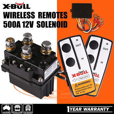 AU81 • Buy X-BULL Winch Controller 12V 500A Solenoid Relay & Twin Wireless Remote 4WD 4x4