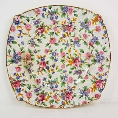 $ CDN37.48 • Buy Royal Winton Grimwades Old Cottage Chintz Ridged Cheese Dish Tray Made England