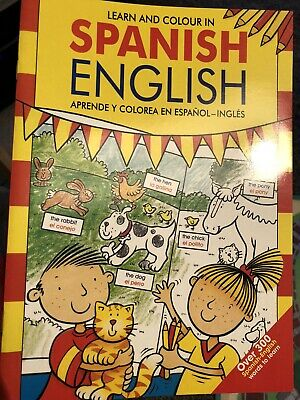 Learn Spanish Colouring Children's Home School Learning Book Spain Translation • 1.50£