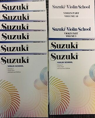 AU233.57 • Buy Suzuki Violin School Volume 1-10 Complete Set Book/CD FREE SHIPPING