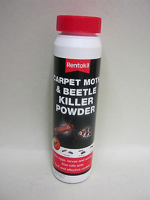 New Rentokil Carpet Moth And Beetle Bugs Killer Powder 150g • 6.45£