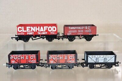 HORNBY DAPOL RAKE Of 5 SCARWOOD PUGH GLENHAFOD THRUTCHLEY OPEN COAL WAGON Nv • 32.50£